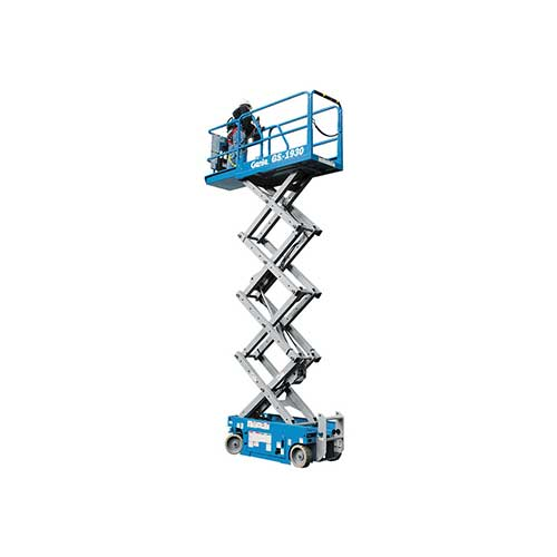 Genie GS1930 electric scissor lift rental by US Aerials & Equipment Rental