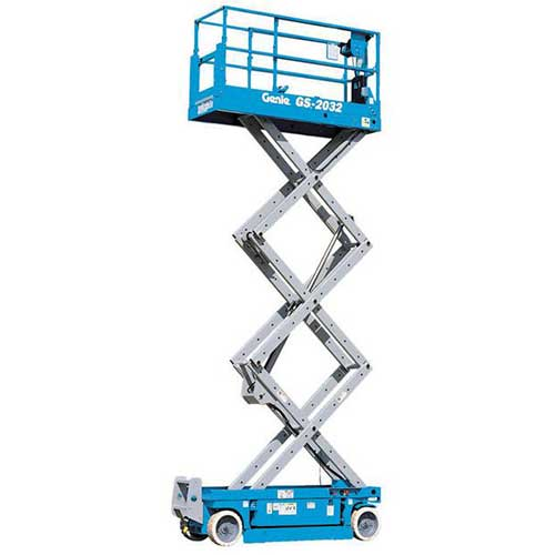 Genie GS2032 electric scissor lift rental by US Aerials & Equipment Rental