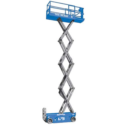Genie GS2632 electric scissor lift rental by US Aerials & Equipment Rental