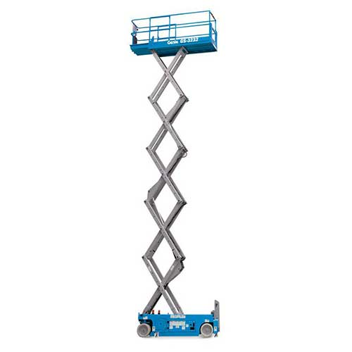 Genie GS3232 electric scissor lift rental by US Aerials & Equipment Rental