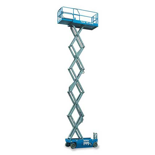 Genie GS3246 electric scissor liftrental by US Aerials & Equipment Rental