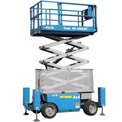Genie GS3268 Engine powered scissor lift rental by US Aerials & Equipment Rental