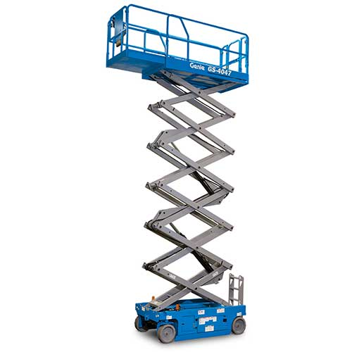 Genie GS4047 electric scissor lift rental by US Aerials & Equipment Rental