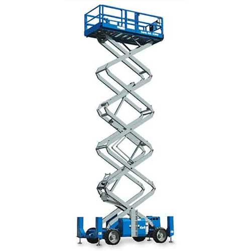 Genie GS4390 engine powered scissor lift rental by US Aerials & Equipment Rental