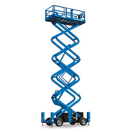 Genie GS5390 engine powered scissor lift rental by US Aerials & Equipment Rental