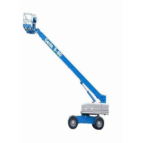 Genie S-80 self-propelled telescopic boom lift rental by US Aerials & Equipment Rental
