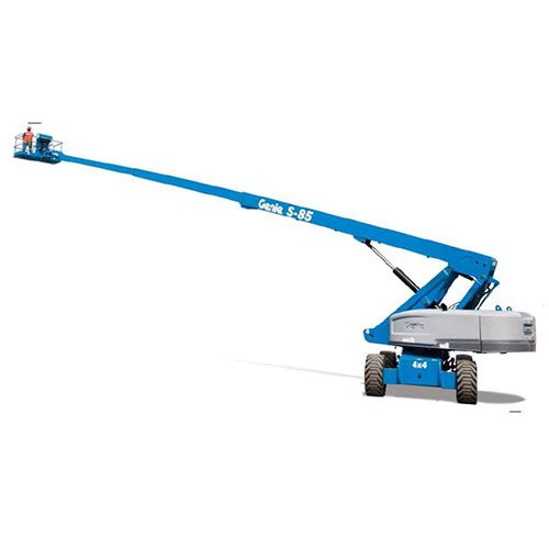 Genie S-85 self-propelled telescopic boom lift rental by US Aerials & Equipment Rental