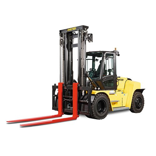 Hyster H360HD2 industrial forklift rental by US Aerials & Equipment Rental