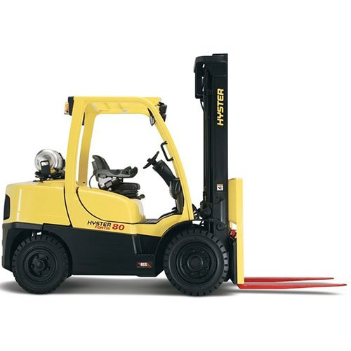 Hyster H80FT-H120FT industrial forklift rental by US Aerials & Equipment Rental