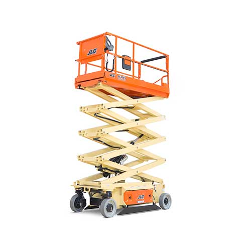 JLG 2646ES electric scissor lift rental by US Aerials & Equipment Rental