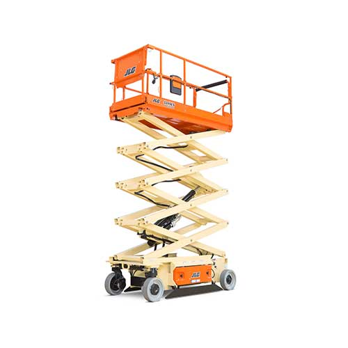 JLG 3246ES electric scissor lift rental by US Aerials & Equipment Rental