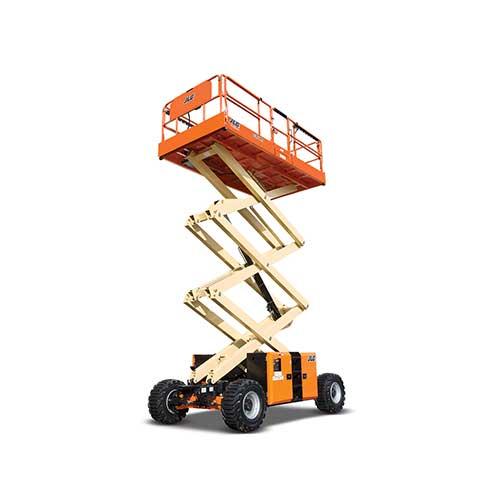 JLG 330LRT engine powered scissor lift rental by US Aerials & Equipment Rental
