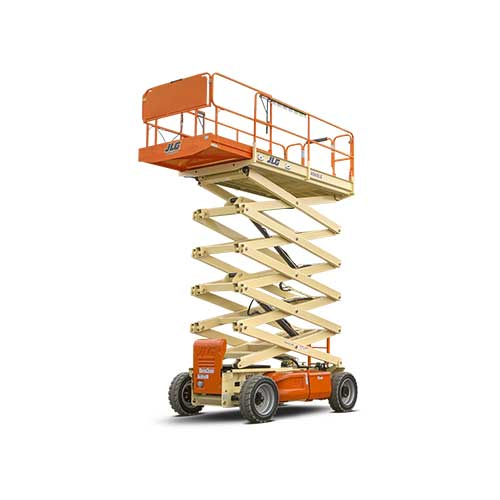 JLG 4069LE electric scissor lift rental by US Aerials & Equipment Rental