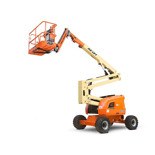JLG 450AJ D/F engine powered articulating boom lift rental by US Aerials & Equipment Rental