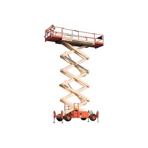 JLG 500RTS engine powered scissor lift rental by US Aerials & Equipment Rental
