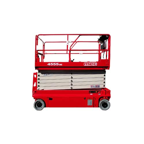 MEC 4555SE electric slab scissor lift rental by US Aerials & Equipment Rental