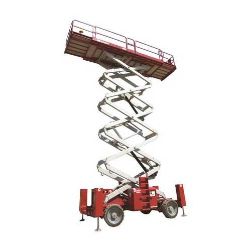 MEC 6092RT dual deck rough terrain scissor lift rental by US Aerials & Equipment Rental