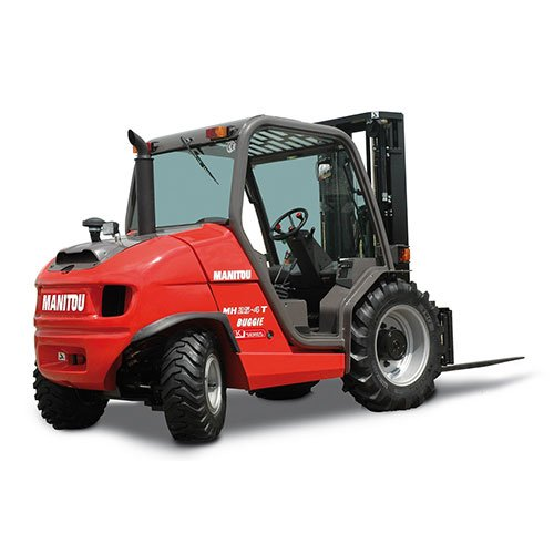 Manitou MH 25-4T rough terrain forklift rental by US Aerials & Equipment Rental