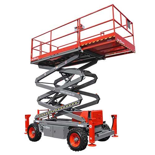 Skyjack SJ7135 RT engine powered scissor lift rental by US Aerials & Equipment Rental