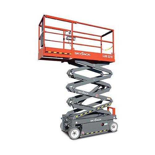 Skyjack SJIII 3219 electric scissor lift rental by US Aerials & Equipment Rental