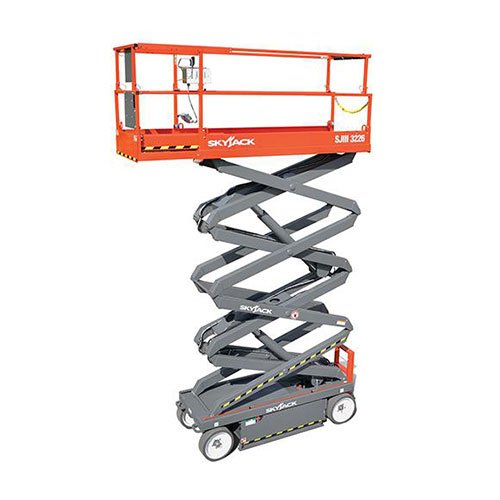Skyjack SJIII 3226 electric scissor lift rental by US Aerials & Equipment Rental