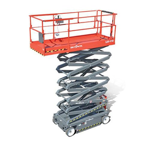 Skyjack SJIII 4740 electric scissor lift rental by US Aerials & Equipment Rental