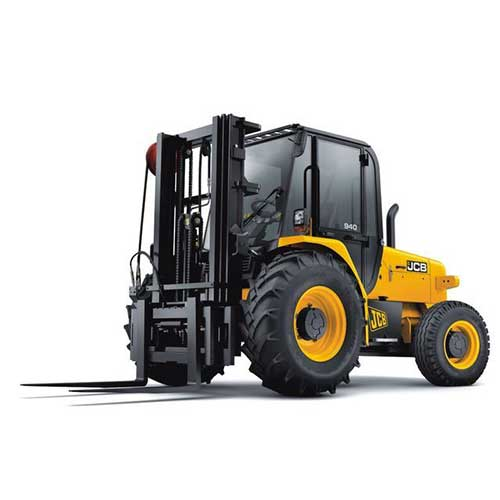 JCB 940 rough terrain forklift rental by US Aerials & Equipment Rental